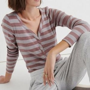 🎈NEW LISTING! Lucky Brand Rose Stripe Thermal Top